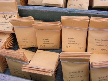 Corky   Seed packages close up