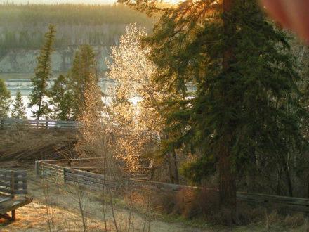 Sunset on Fraser River