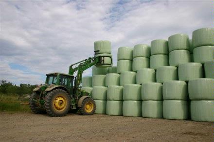 silage bales &tractor DougHatfield